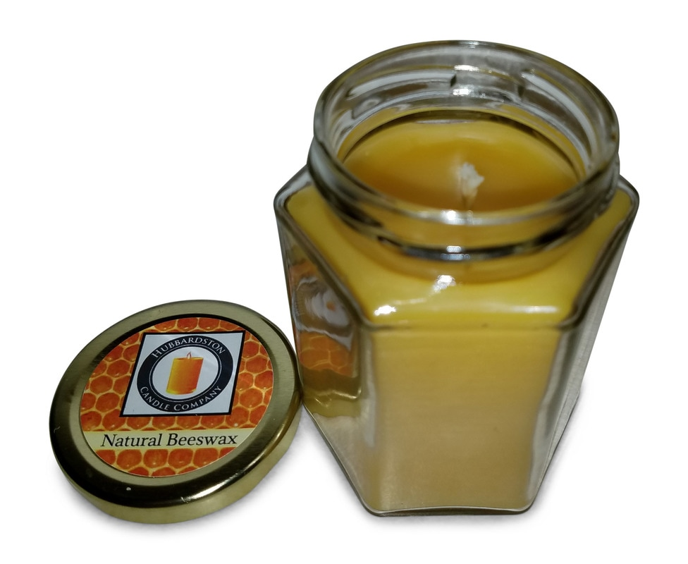 Free Shipping! Beeswax Honey Candles Hand Poured Cute Little Glass Jar